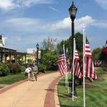 Wilmington Rotary's 500 Flags for Heroes stretches the length of the Riverwalk,
