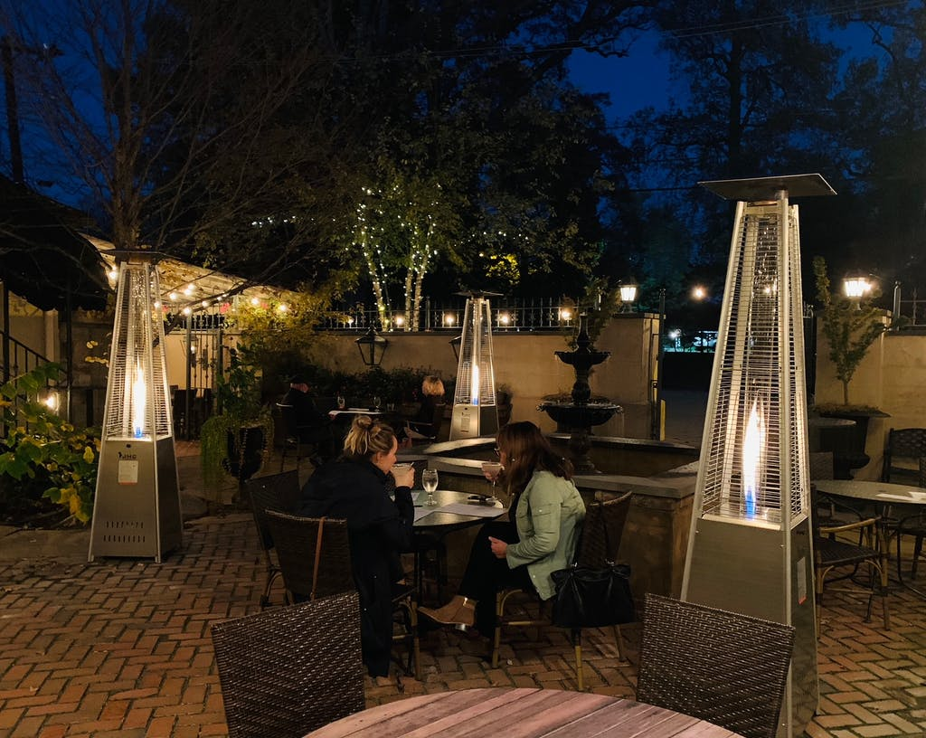 Harry's Savoy Grill's outdoor patio has been a popular place to dine.